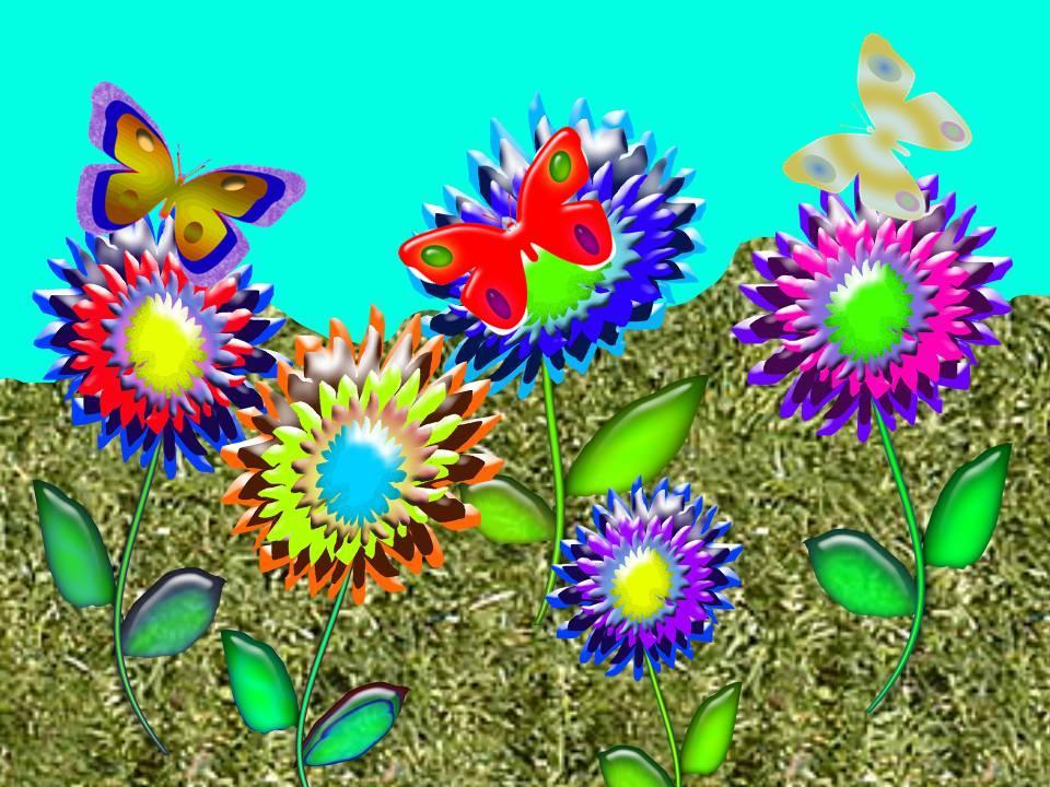 Анимации презентации бабочки летают